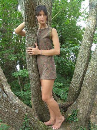Robe tunique kaki 1