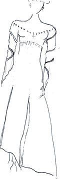Croquis robe spirituelle